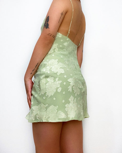 Aiken Floral Mini Dress - Sage