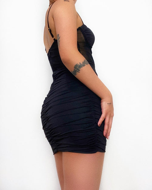 Claire Mini Dress - Black