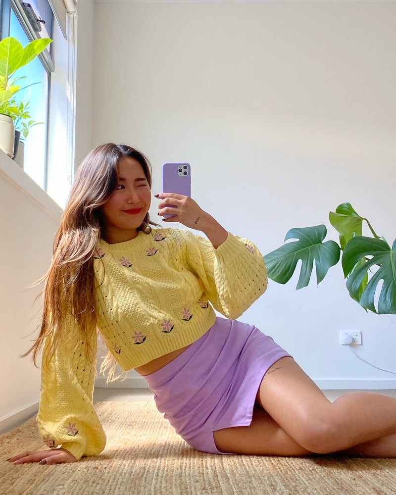 Secret Garden Knit Jumper - Yellow
