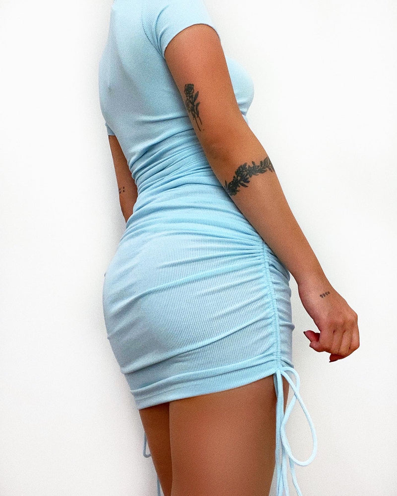 Nora Mini Dress - Light Blue