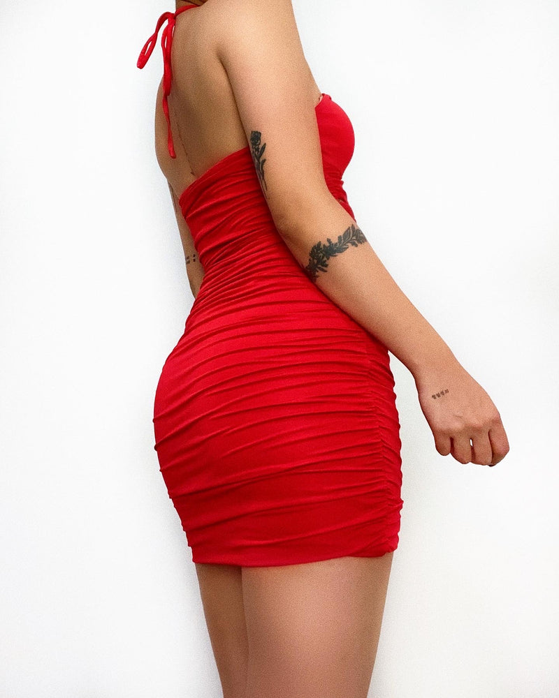 Paulina Mini Dress - Red