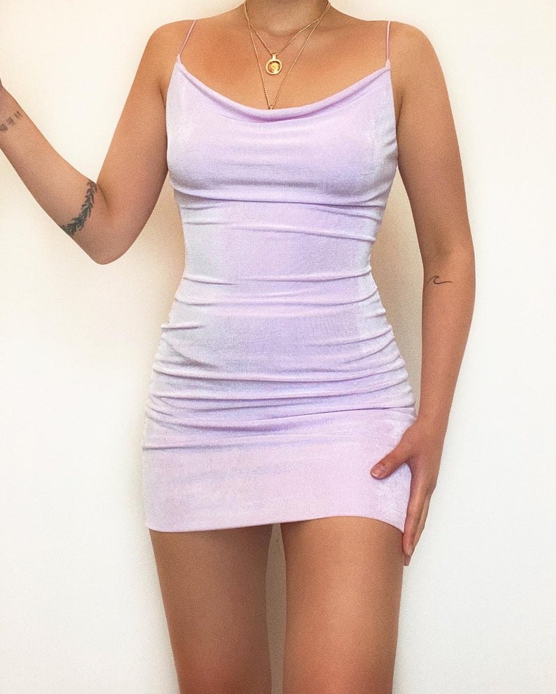 Reverie Mini Dress - Lilac