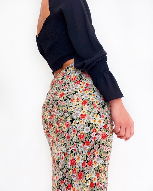 Penny Floral Midi Skirt