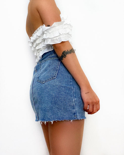 Yassin Crop Top - White