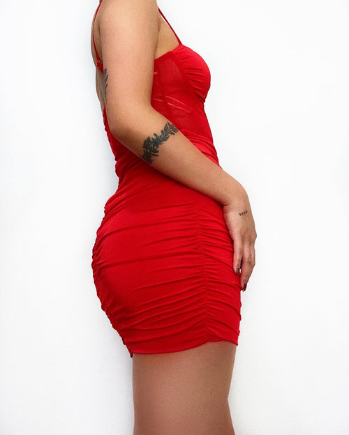 Claire Mini Dress - Red