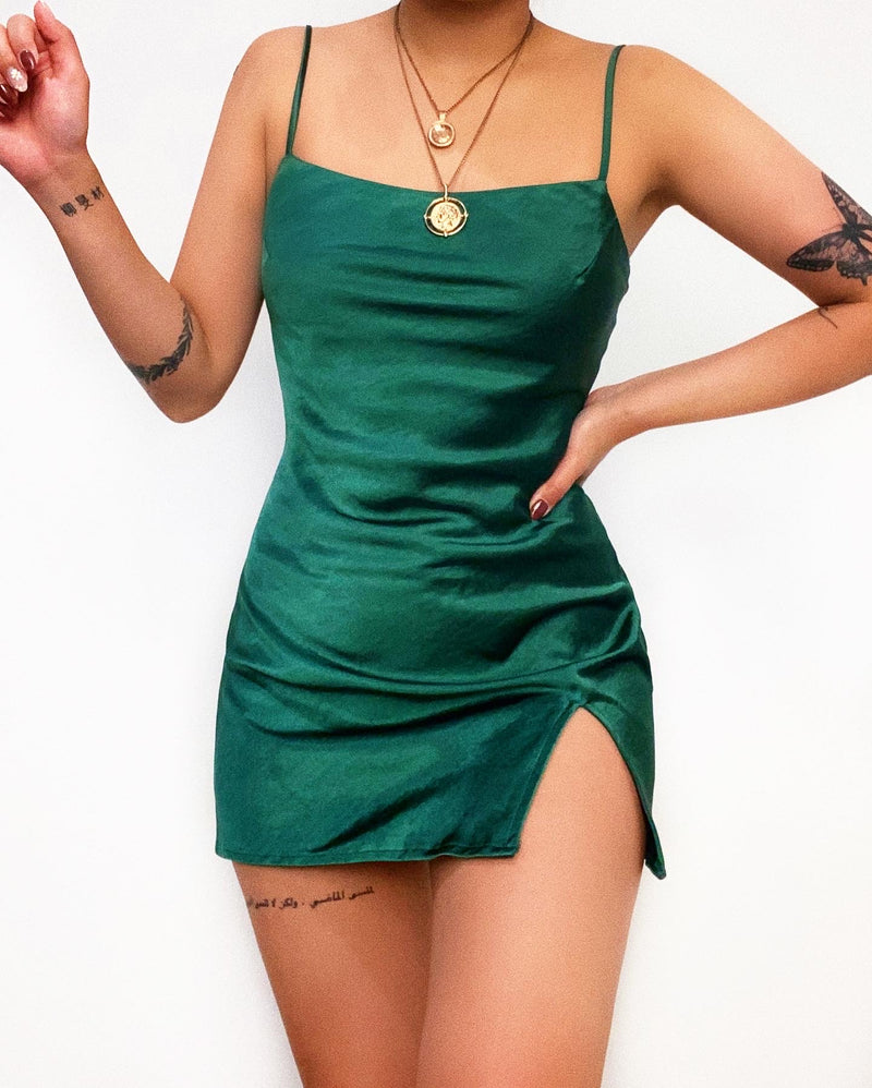 Malaika Mini Dress - Emerald Green