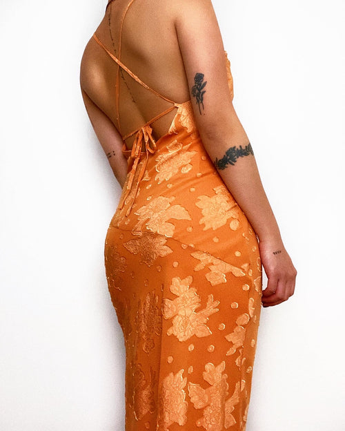 Aiken Midi Dress - Orange