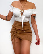 Joel Mini Skirt - Brown