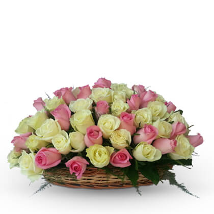 Floral Arrangements in a basket