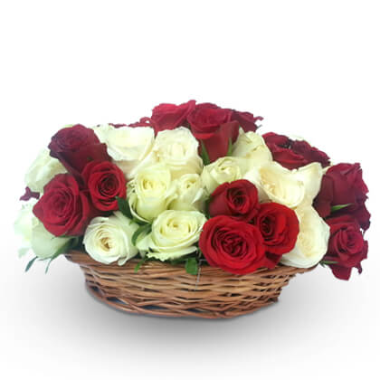 Roses In Basket - florista-in