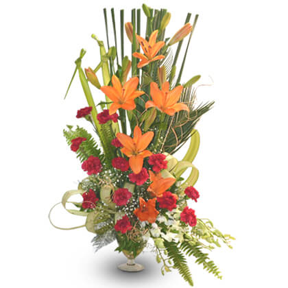 Beautiful Lilies N Carnations - florista-in