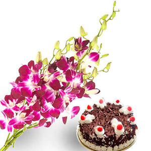 Orchids and cake - florista-in