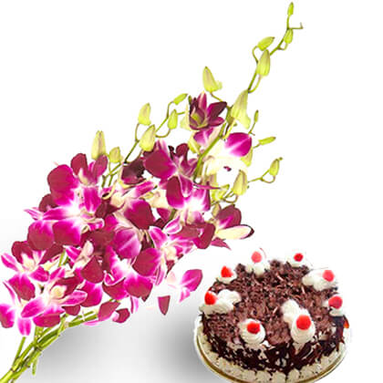 Orchids and cake