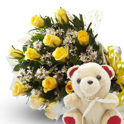 Cute Flirty Teddy - florista-in