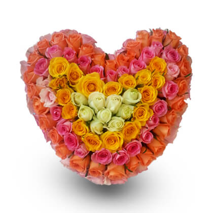 Colored hearts - florista-in