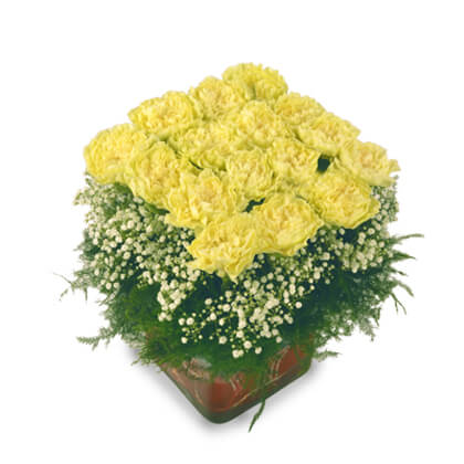 Pretty Yellow Carnations - florista-in