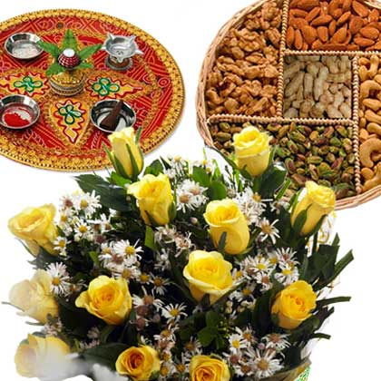 Dry Fruits And Thali Hamper - florista-in