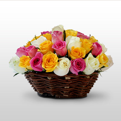 Pleasant rose basket - florista-in