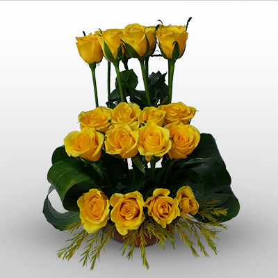 Orderly Yellow roses - florista-in