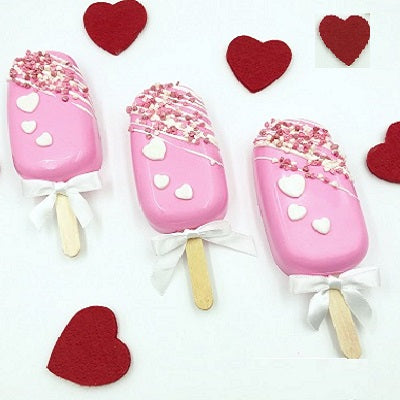 Strawberry Cakesicles - florista-in