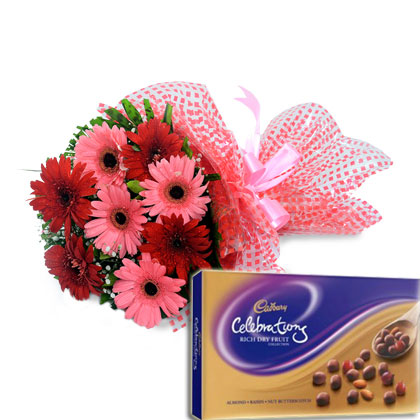 Flowers & Dryfruit Chocolates - florista-in