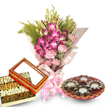 Floral Sweets Diya Combo - florista-in