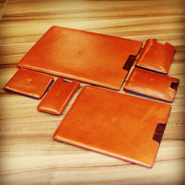 leather products in brown