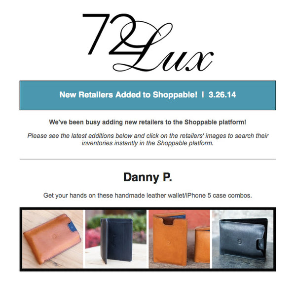 Danny P.'s on Shoppable!