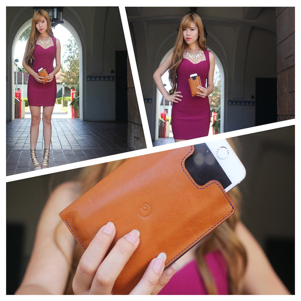 Vannie sent us these great photos of her brown leather wallet with iPhone 5 case.