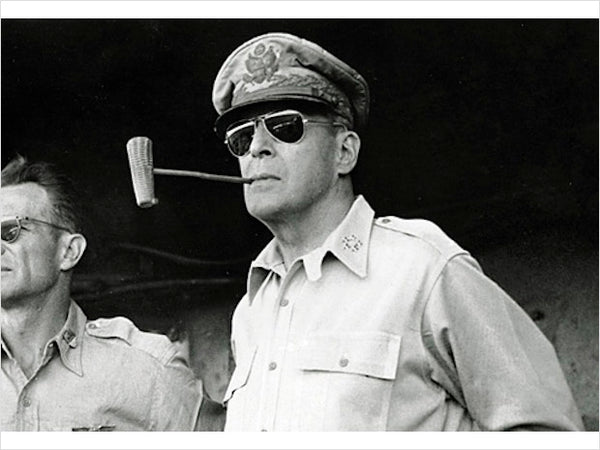 General Douglas MacArthur sporting his aviator glasses