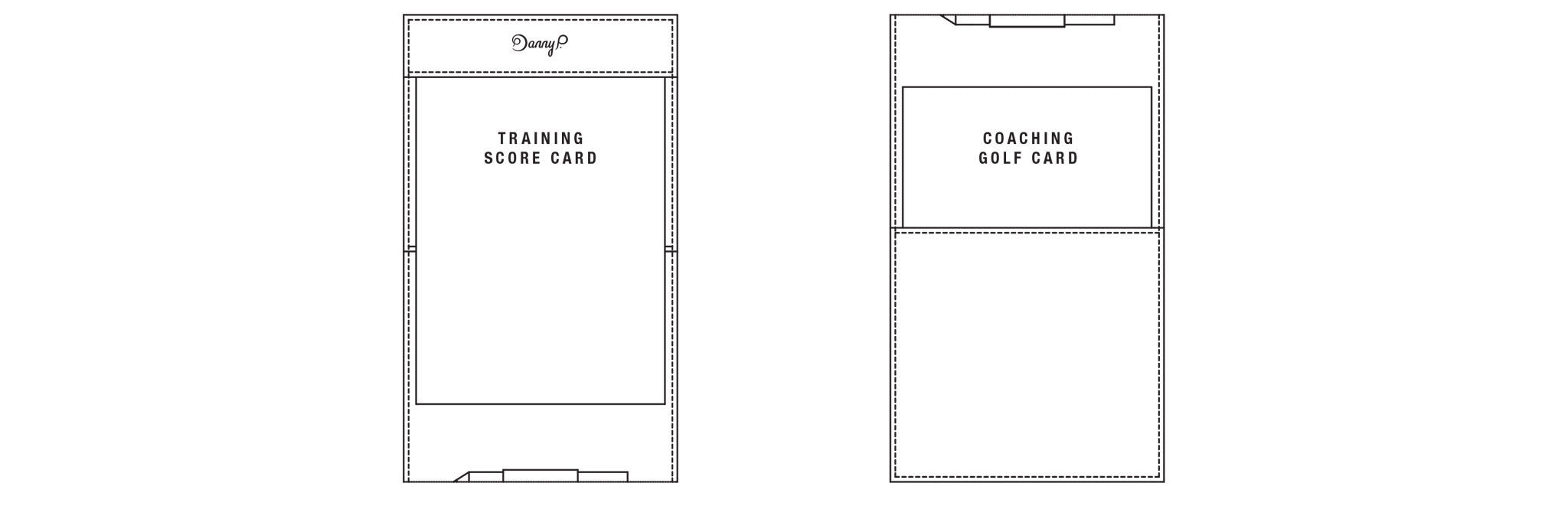 Leather golf score card holder