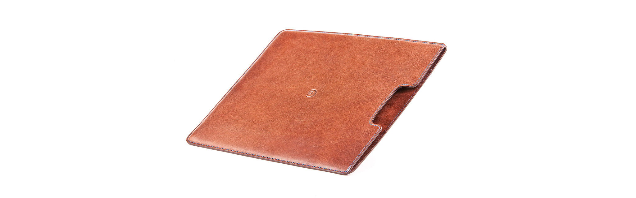 iPad cover in dark brown