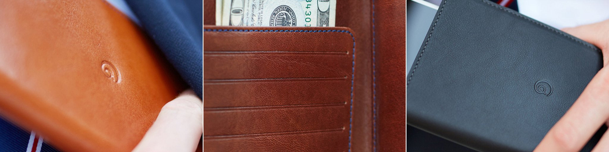 Detail of leather scorecard holder