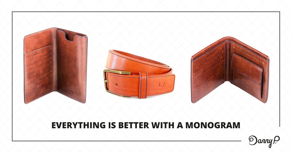 Customize your leather product with initials (monogram)
