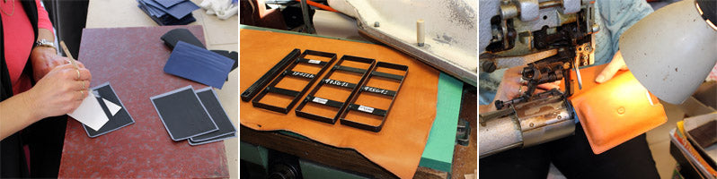 How we manufacture leather wallets and sleeves