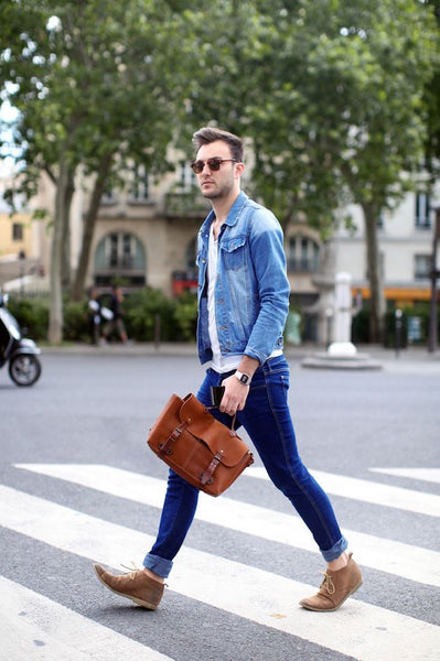 Slim blue jeans are wardrobe essentials for every men