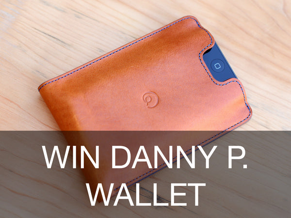 Win unique handmade leather iPhone wallet case