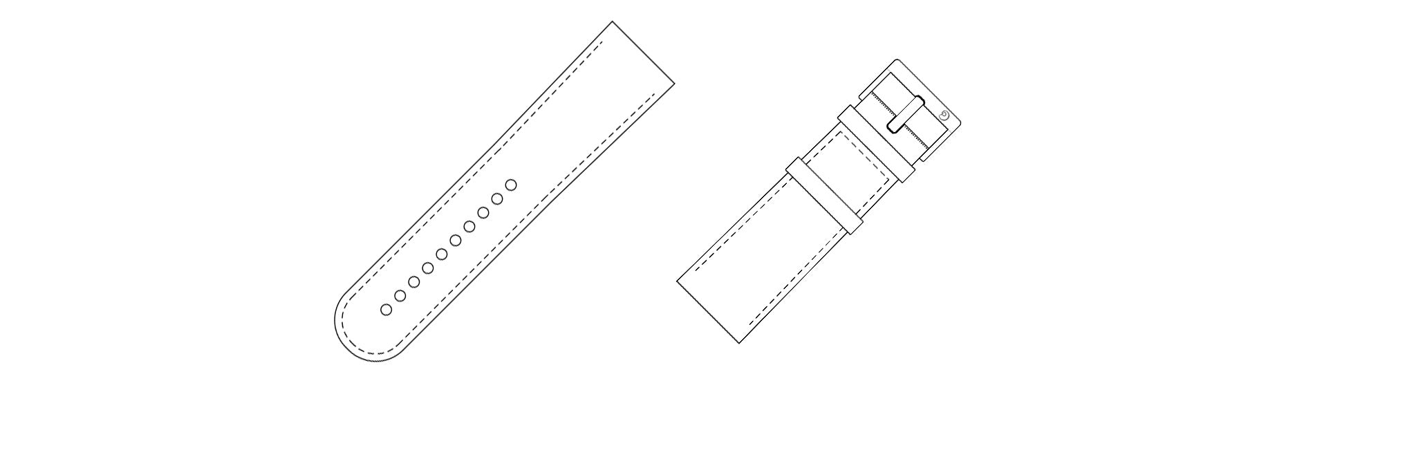 Leather strap for Apple Watch wireframe