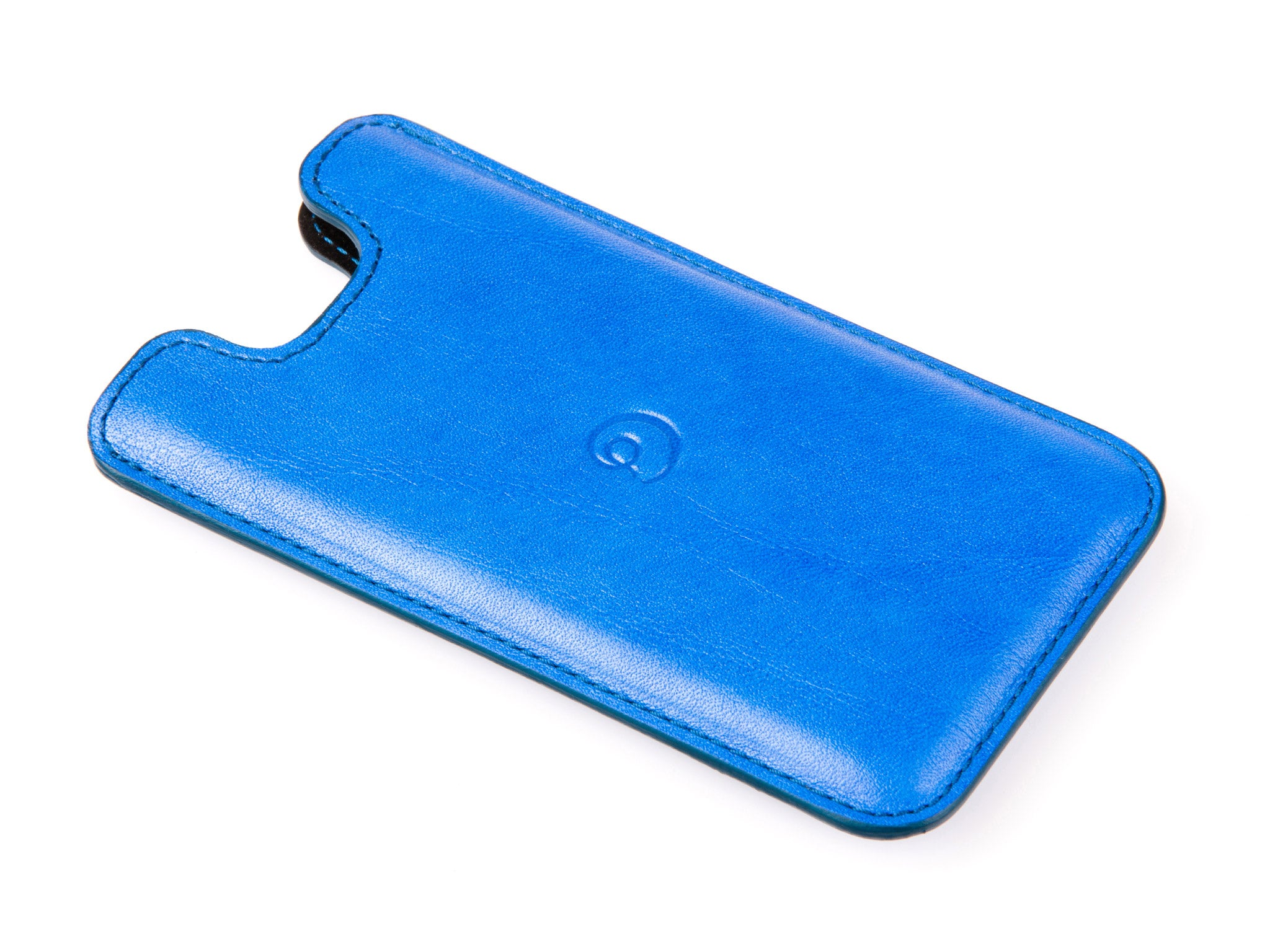 Leather iPhone 6/6s/7/8 Plus case ocean blue by Danny P.