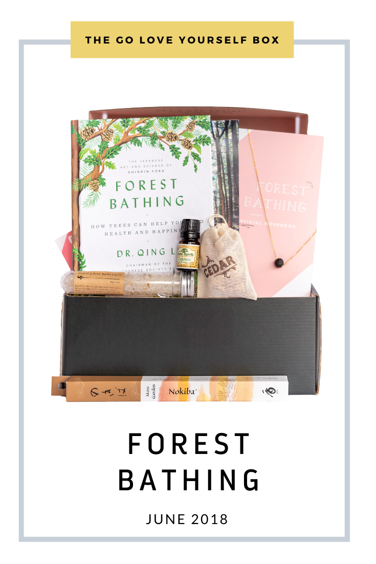 Go Love Yourself Box - Self Help Self Care - Forest Bathing