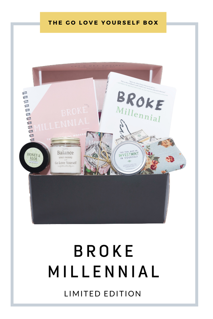 Go Love Yourself Box - Self Help Self Care - Broke Millenial
