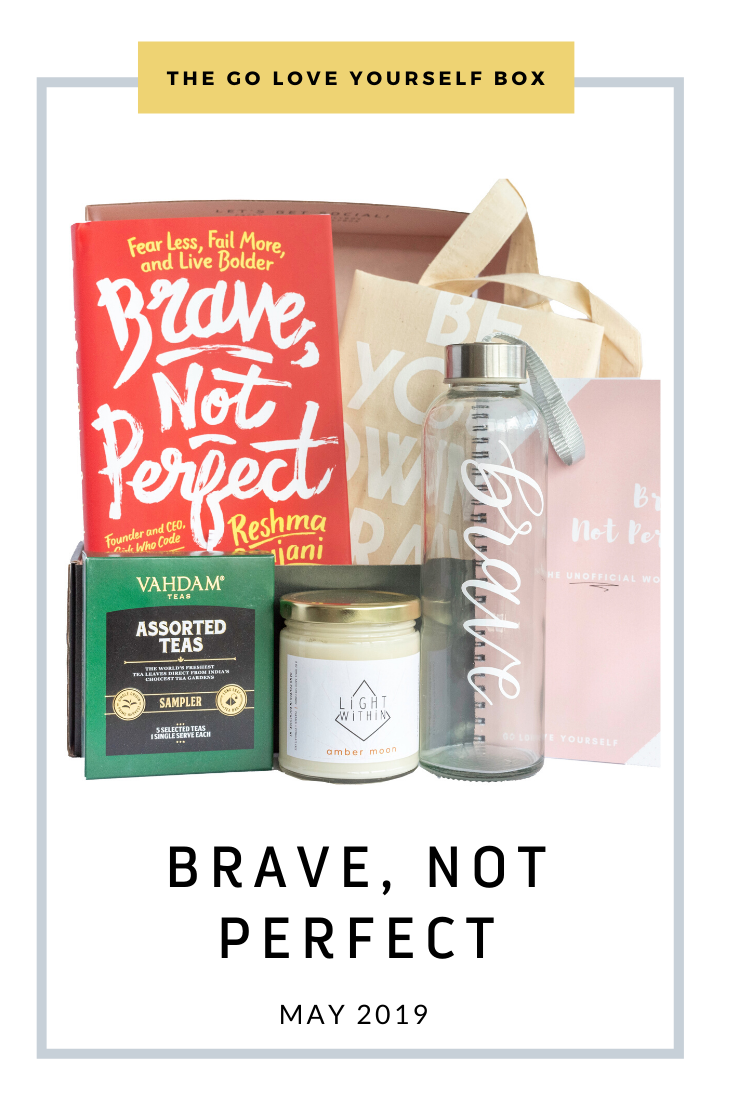 Go Love Yourself Box - Self Help Self Care - Brave Not Perfect