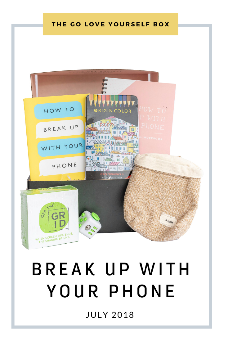 Go Love Yourself Box - Self Help Self Care - Break Up With Your Phone