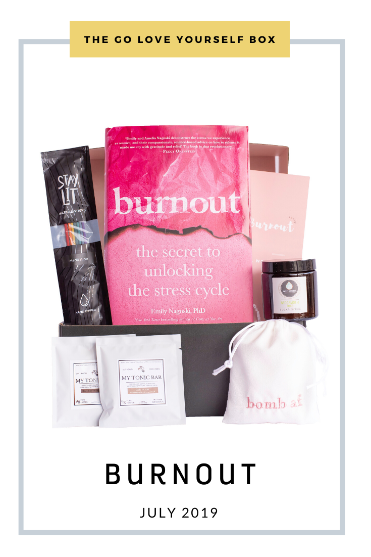 Go Love Yourself Box - Self Help Self Care - Burnout