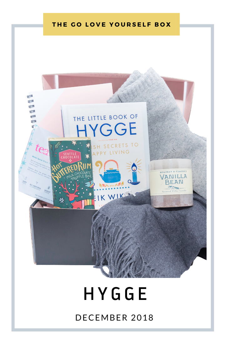 Go Love Yourself Box - Self Help Self Care - Hygge