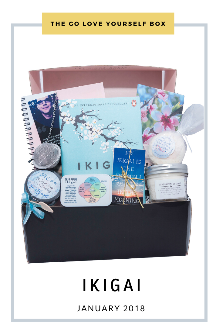 Go Love Yourself Box - Self Help Self Care - Ikigai