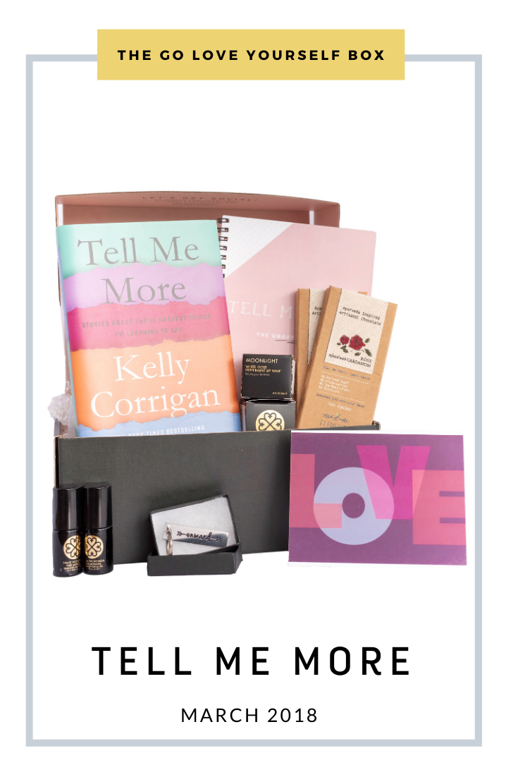 Go Love Yourself Box - Self Help Self Care - Tell Me More