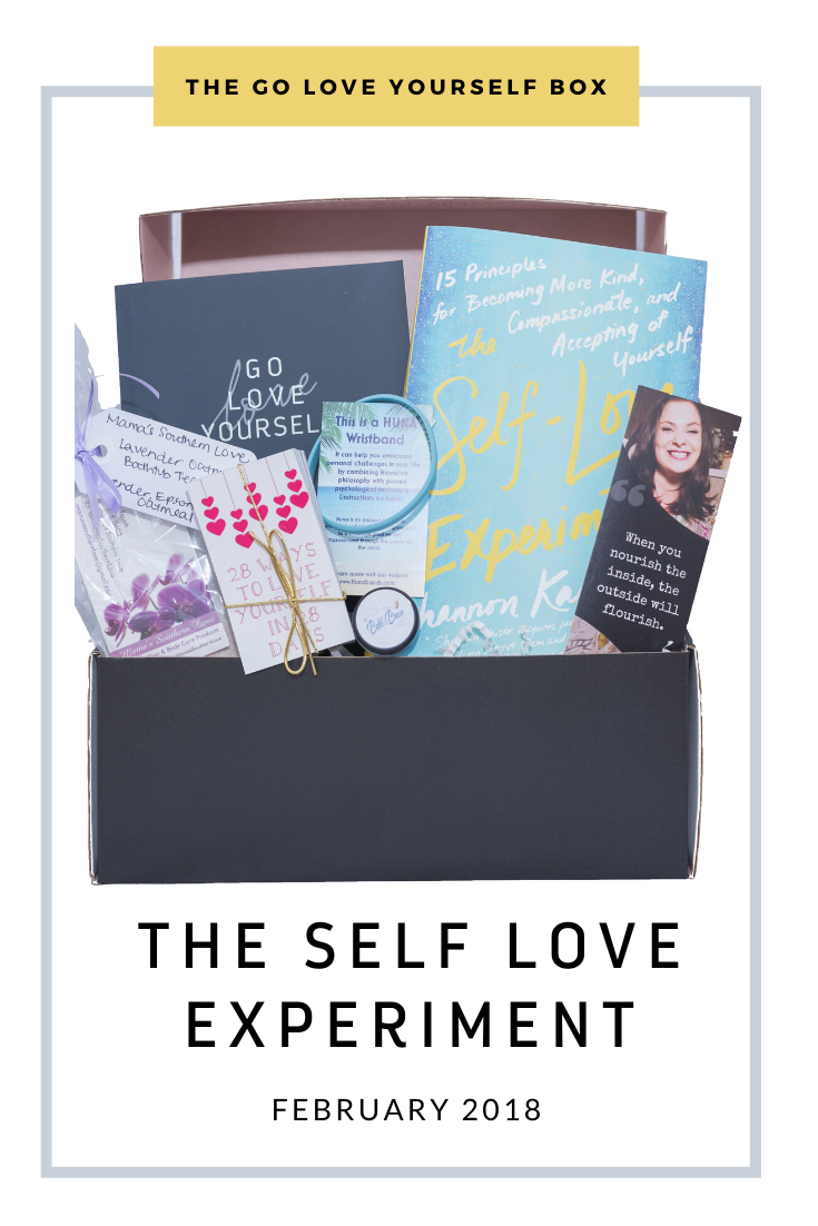 Go Love Yourself Box - Self Help Self Care - Self Love Experiment