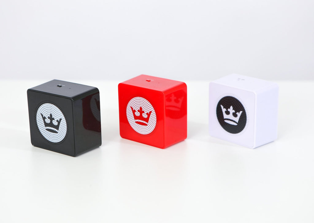 Bluetooth speakers in black, red and white
