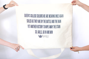 Linen laundry bag with Oil Thigh lyrics